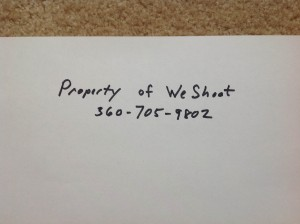 Property of We Shoot